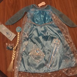 NWT Elsa Princess Dress with Accessory Pack